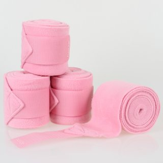 Fleecebandagen im 4er-Set in rosa